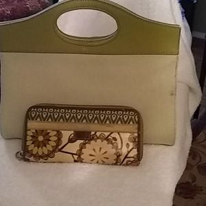 Vintage fossil purse with wallet.